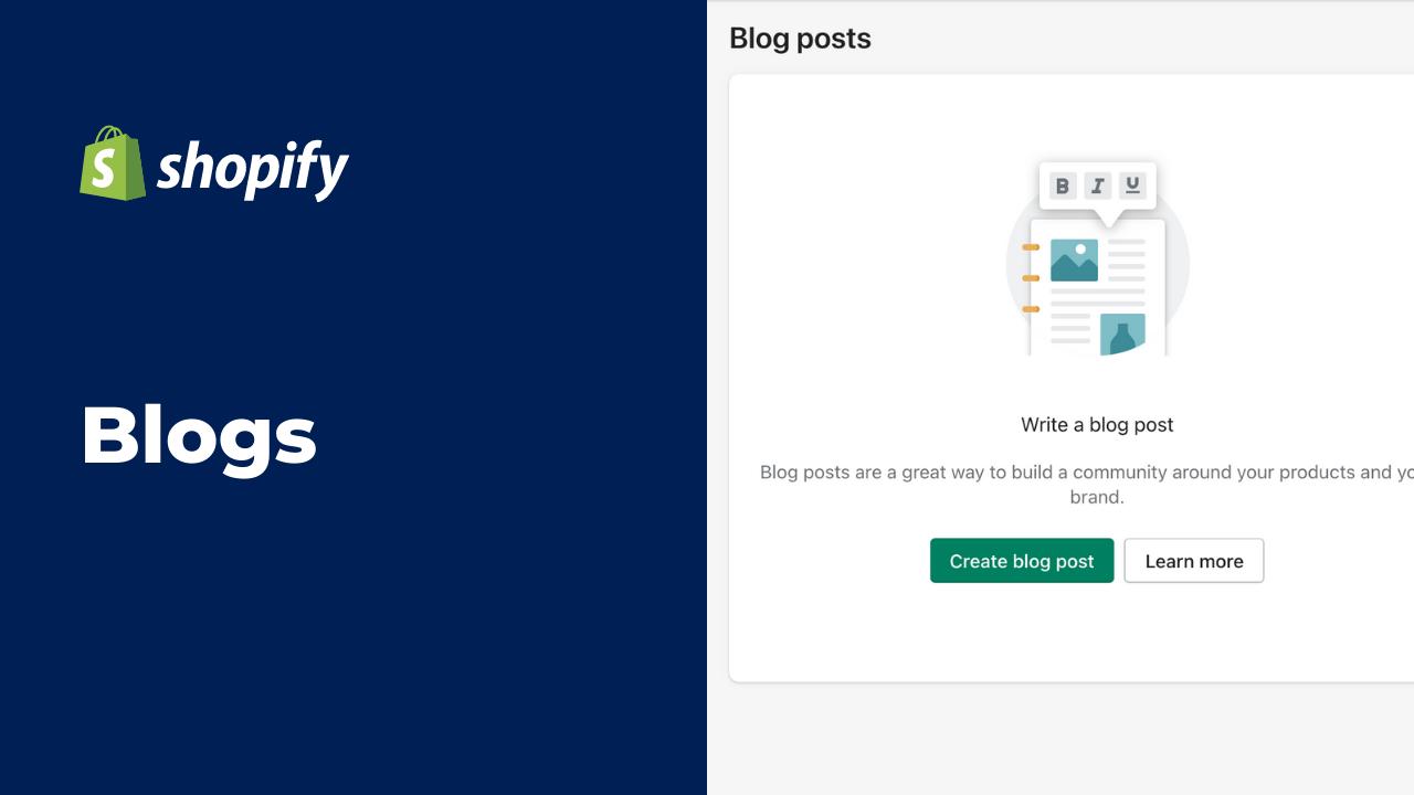 Cómo Hacer Blogs en Shopify | Mobkii