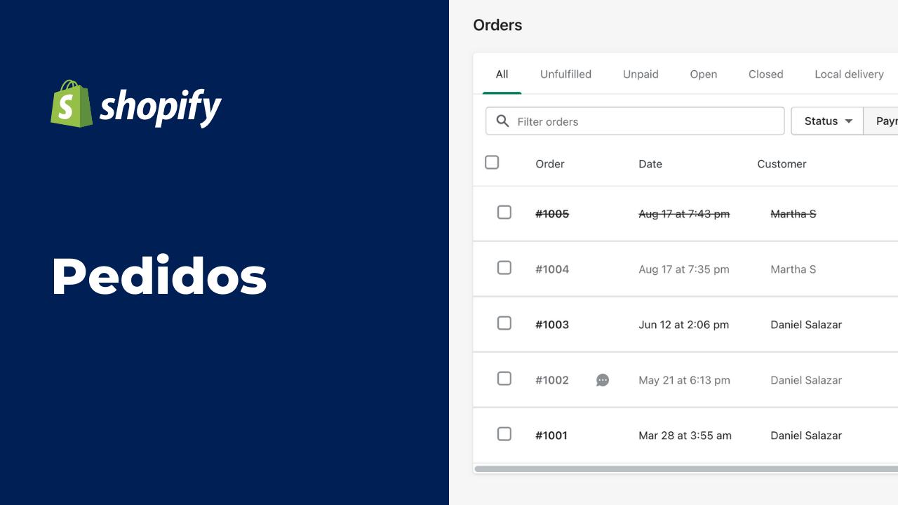Manejo de Pedidos en Shopify