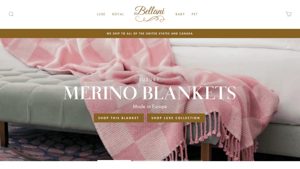 Bellani E-commerce por Shopify