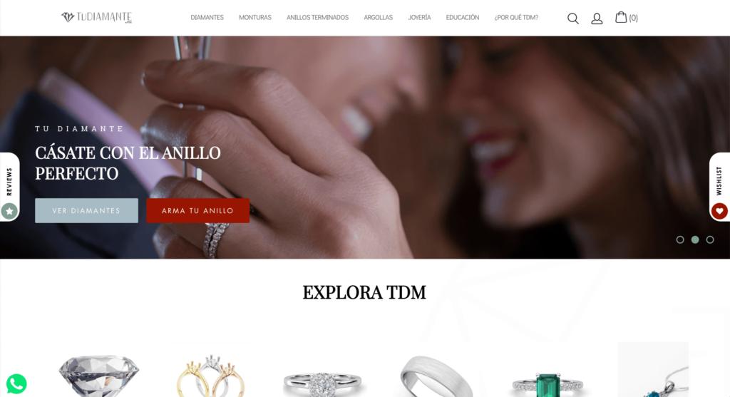 Tudiamante - Ajustes Shopify por Mobkii