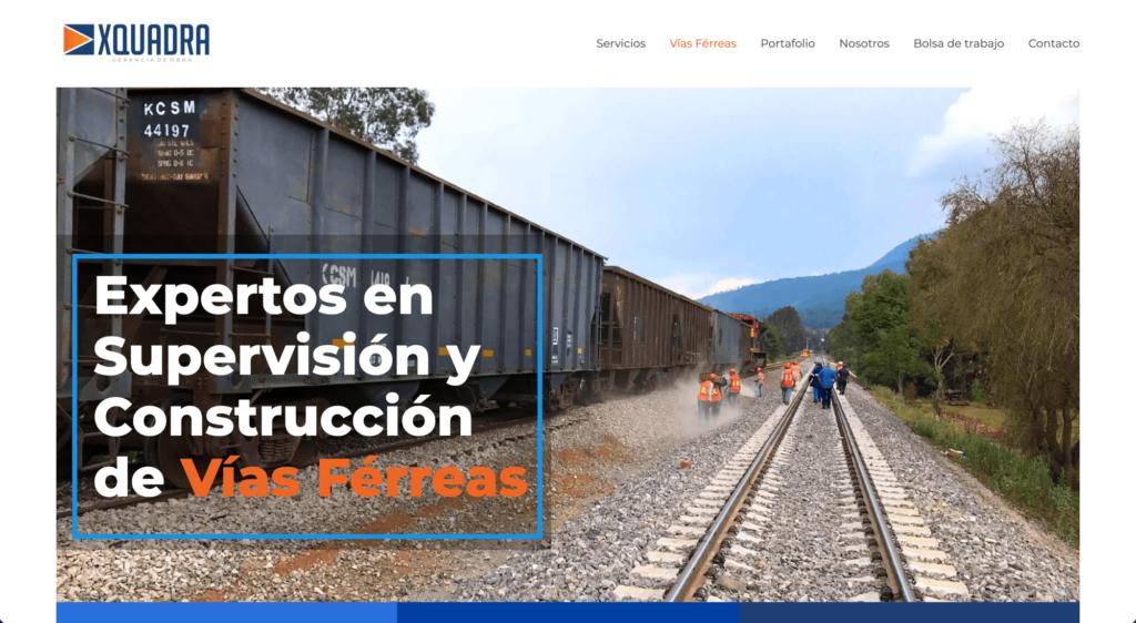 Xquadra - Gestión de Obras - Sitio web por Mobkii